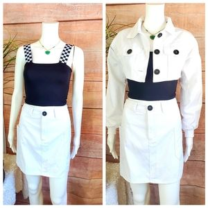 NWT! $258 Value! LF 1245 Mini skirt jacket top